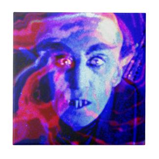 Nosferatu maravilloso azulejo cuadrado pequeño
