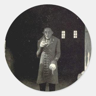 Nosferatu Pegatina Redonda