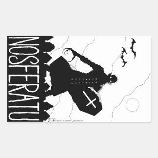Nosferatu - pegatinas pegatina rectangular