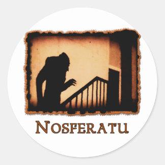 Nosferatu Scary Vampire Products Classic Round Sticker