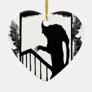 Nosferatu-shadow on the stairs ceramic ornament
