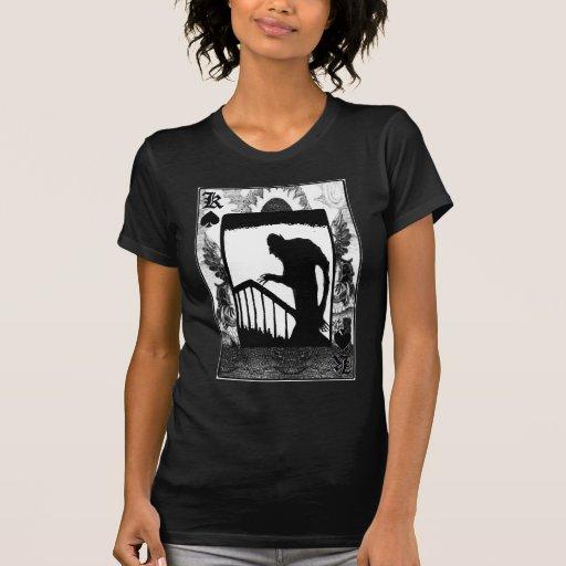 Nosferatu-shadow on the stairs tshirts