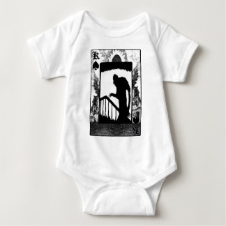 Nosferatu-sombra en las escaleras body para bebé