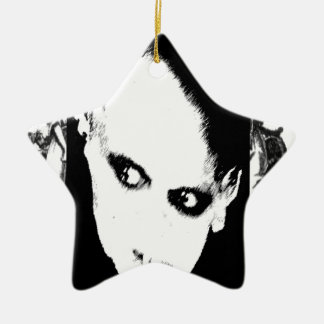 Nosferatu the playing card Double-Sided star ceramic christmas ornament
