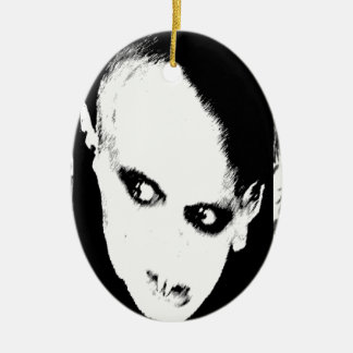 Nosferatu the playing card Double-Sided oval ceramic christmas ornament