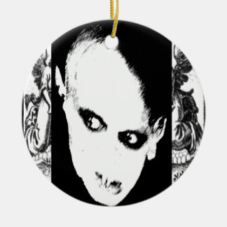 Nosferatu the playing card Double-Sided ceramic round christmas ornament
