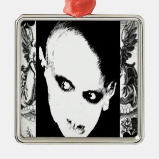 Nosferatu the playing card square metal christmas ornament