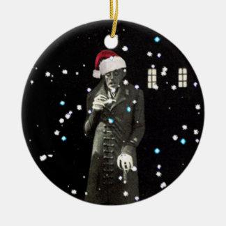 Nosferatu Xmas Double-Sided Ceramic Round Christmas Ornament