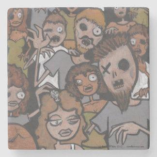 Nosh Pit Cartoon Zombie Hoarde lowbrow art Coaster