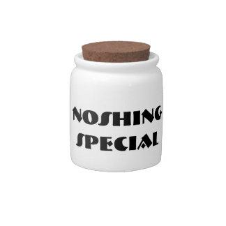 NOSHING SPECIAL Yiddish pun Candy Jar