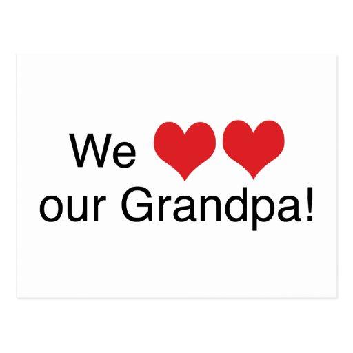 Nosotros abuelo del corazón postal