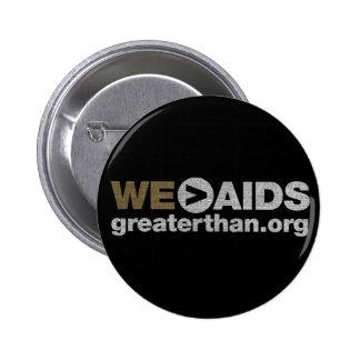 NOSOTROS > botón del SIDA Pin Redondo De 2 Pulgadas