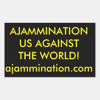 Nosotros contra el pegatina del mundo