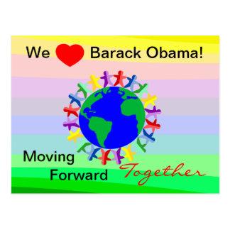 Nosotros corazón Barack Obama-Que mueve Junto-Voto Postales