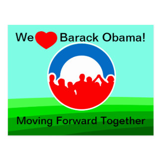 Nosotros corazón Barack Obama-Que se mueve Postal