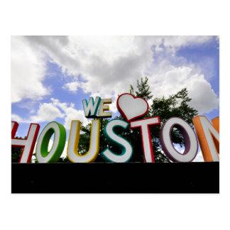 nosotros corazón Houston Postales