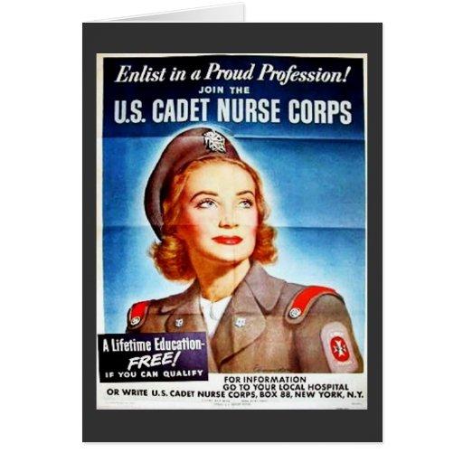 Nosotros cuerpo de enfermera del cadete tarjetas