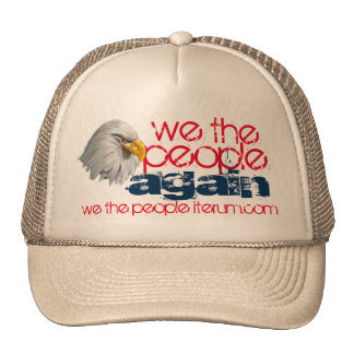 nosotros de la gente el diseño del águila otra vez gorros
