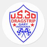 nosotros dragstrip 30 pegatina