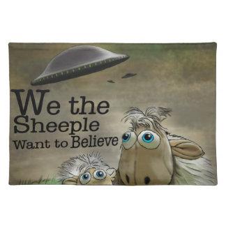 Nosotros el americano MoJo Placemats de Sheeple Manteles Individuales