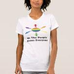 Nosotros el arco iris de la gente camisetas