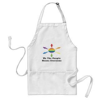 Nosotros el arco iris de la gente delantales