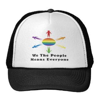 Nosotros el arco iris de la gente gorra