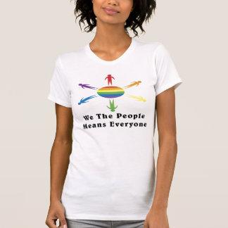 Nosotros el arco iris de la gente playera