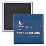 Nosotros el brazo de la gente para la defensa imán para frigorifico