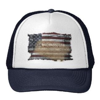 Nosotros el gorra del camionero de la bandera