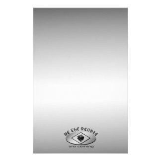 Nosotros el logotipo del escudo metálico de la  papeleria