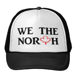 Nosotros el norte con la hoja de arce roja gorro de camionero