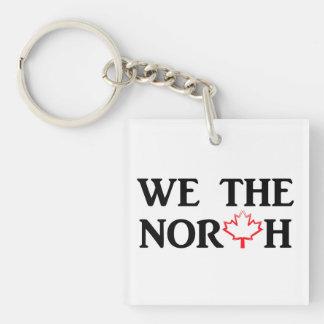 Nosotros el norte. Orgullo canadiense con una hoja Llavero Cuadrado Acrílico A Una Cara