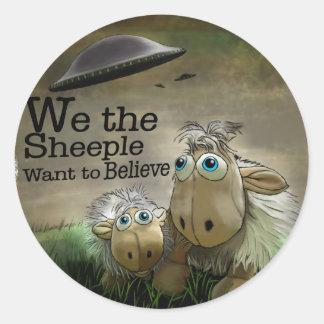 Nosotros el pegatina de Sheeple
