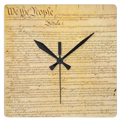 Nosotros el reloj de pared de la constitución de l