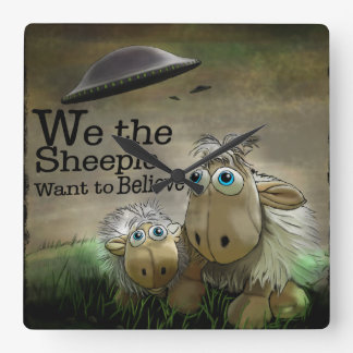 Nosotros el reloj de pared de Sheeple