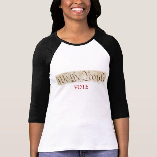 Nosotros el voto rd de la gente camiseta