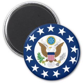 Nosotros embajador, Estados Unidos Imán Redondo 5 Cm