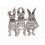 Nosotros Gargoyles tres postales (2)