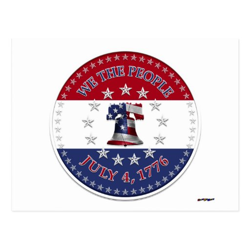 Nosotros gente el 4 de julio de 1776 Bell con 13 y Tarjetas Postales