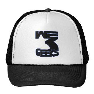 Nosotros gorra del logotipo de 3 frikis