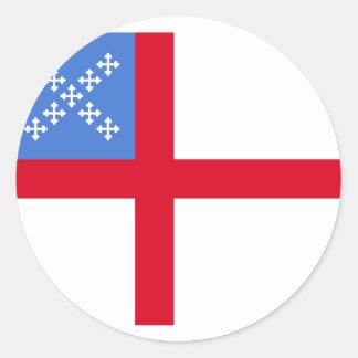 Nosotros iglesia episcopal religiosa etiqueta redonda
