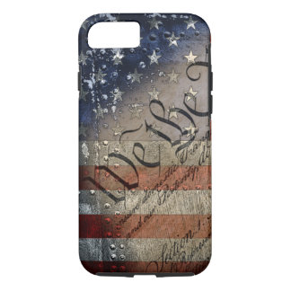 Nosotros la bandera americana del vintage de la funda iPhone 7