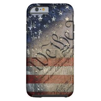 Nosotros la bandera americana del vintage de la funda resistente iPhone 6