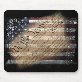 Nosotros la bandera americana Mousepad del vintage