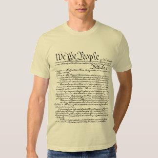 Nosotros la camiseta de la constitución de la playera