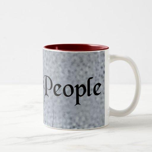 Nosotros la fuente de la antigüedad de la gente en taza de dos tonos