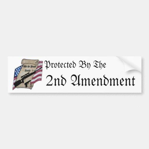 (Nosotros la gente) 2dos armas de la enmienda del  Pegatina De Parachoque
