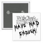 Nosotros la gente!!. Botón político de la protesta Pin