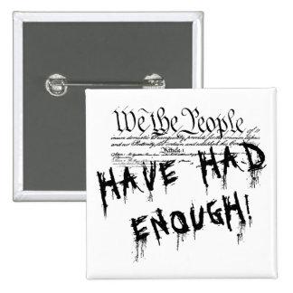Nosotros la gente!!. Botón político de la protesta Pin Cuadrado